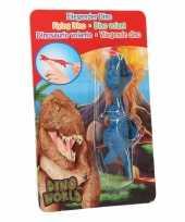 Dinosaurus speel katapult blauwe t rex