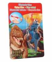 Dinosaurus speel katapult blauwe triceratops