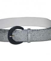 Disco glitter riem zilver 110 cm