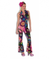 Disco jumpsuit multicolor dames