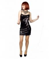 Disco jurkje kort zwart voor dames