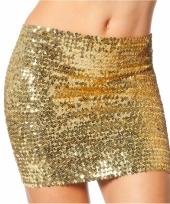 Disco top rok met gouden pailletten
