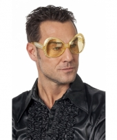 Disco zonnebril goud