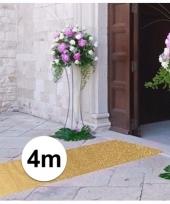 Discothema gouden glitter loper 4m lang bij 1m breed