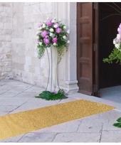 Discothema gouden glitter loper 5m lang bij 1m breed