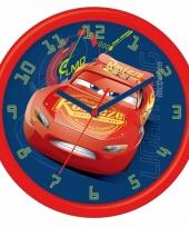 Disney cars kinderklok met wijzers 26 cm