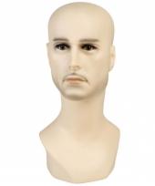 Display hoofd blanke man 40 cm
