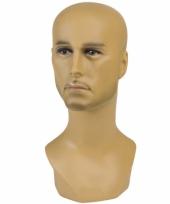 Display hoofd halfbloed man 40 cm
