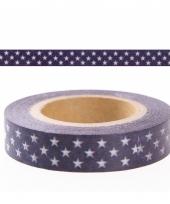 Diy washi tape blauw met sterren