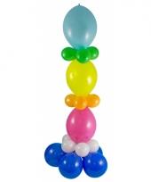Doe het zelf ballon pilaar gekleurd