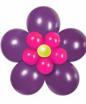 Doe het zelf ballon set bloem paars roze