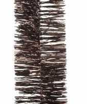 Donker bruine lametta guirlande 270 cm