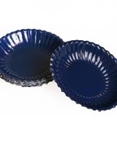 Donkerblauwe chips schaaltjes 16 cm