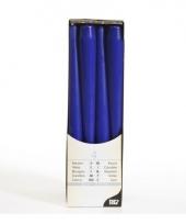Donkerblauwe versiering kaarsen 25 cm