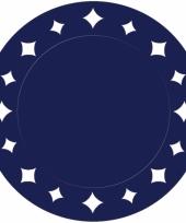 Donkerblauwe versiering placemats 33 cm