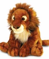 Donkerbruine leeuwen knuffel 50 c