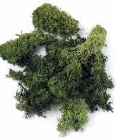 Donkergroene decoratie mos 200 gram