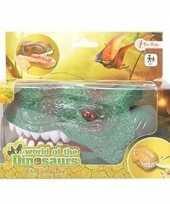 Donkergroene dinosaurus tandarts spel