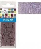 Doos met lila mozaiek steentjes
