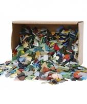 Doos met mozaiek glas kleuren 8 20 mm