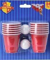 Drank spel bierpong mini 14 delig