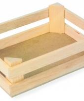 Drie houten kratten 11 x 8 x 6 cm