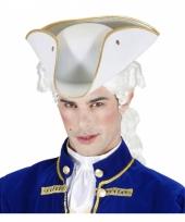 Driepunt hoed wit vilt