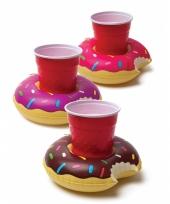 Drijvende bekerhouder donuts 3 x