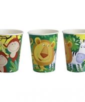 Drink bekers met jungle dieren