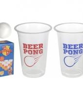 Drinkspel bier pong 2 ballen