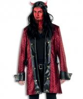 Duivel verkleed jas rood deluxe
