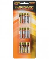 Dunlop alkaline batterijen aaa 12 stuks
