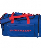 Dunlop sporttassen blauw rood
