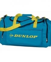 Dunlop sporttassen turquoise geel
