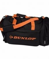 Dunlop sporttassen zwart oranje