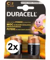 Duracell batterijen cr lr14 4 stuks