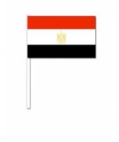 Egypte zwaai vlaggetjes 12 x 24 cm