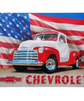 Emaille chevrolet usa reclamebord
