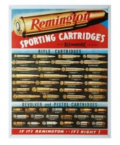 Emaille remington reclamebord