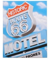 Emaille route 66 reclamebord