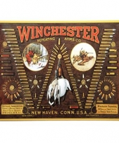 Emaille winchester reclamebord