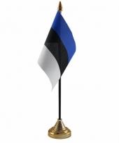 Estland tafelvlaggetje 10 x 15 cm met standaard