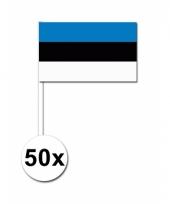 Estland zwaai vlaggetjes 50 stuks