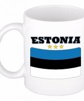 Estlandse vlag koffiebeker 300 ml