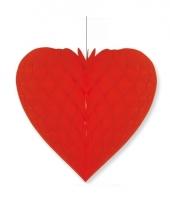 Etalage decoratie hart rood 40 x 44 cm