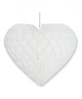 Etalage decoratie hart wit 28 x 32 cm
