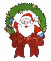 Etalage sticker kerstman 30 cm