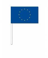 Europa zwaai vlaggetjes 12 x 24 cm