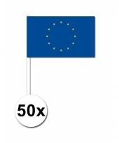 Europa zwaai vlaggetjes 50 stuks
