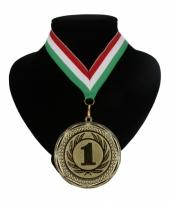 Fan kampioensmedaille lint rood wit en groen